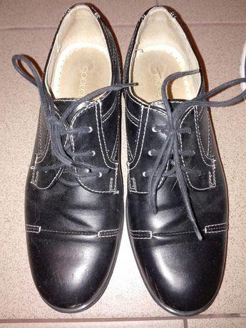 BUTY CZARNE pantofle eleganckie buciki chłopięce r.35 8LAT Szkoła BDB
