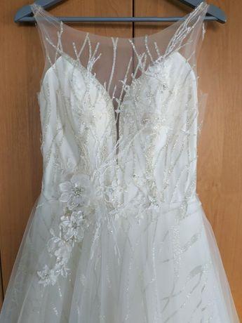 Piękna suknia ślubna polskiej produkcji, sprzedam, cena do negocjacji