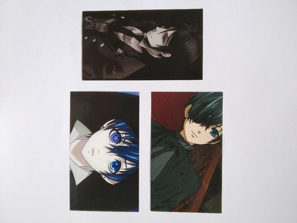 Стикеры бумажные, аниме Темный дворецкий, Tokyo Ghoul, Yuri on ice