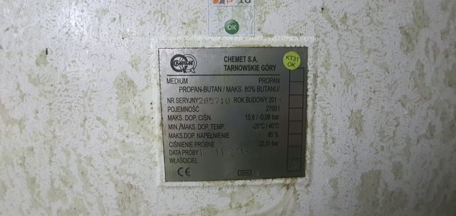 Sprzedam zbiornik na gaz propan-butan