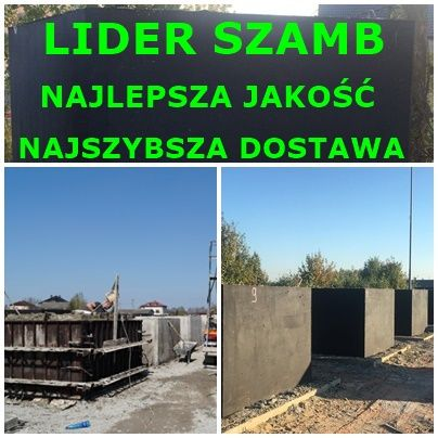 szambo betonowe 5m3 zbiornik na deszczówkę SZCZELNE Kartuzy Czersk