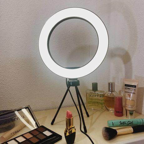 Бьюти подсветка для макияжа настольная лампа кольцевая со штативом