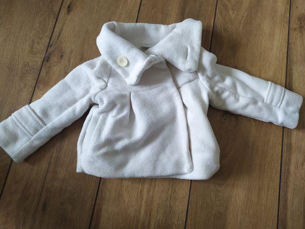 Biały płaszczyk kurtka Next 9-12 chrzest