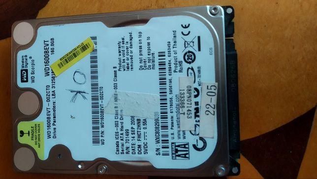 Жесткий диск для ноутбука Western Digital Scorpio Blue 160GB SATA