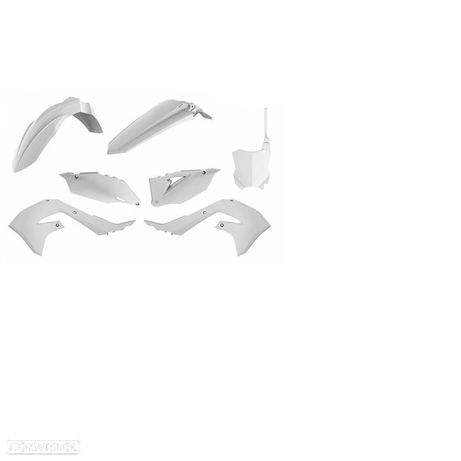kit plasticos polisport branco kawasaki kx 250 / 450