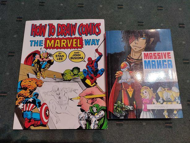 2 Manuais Desenho BD Marvel e Manga