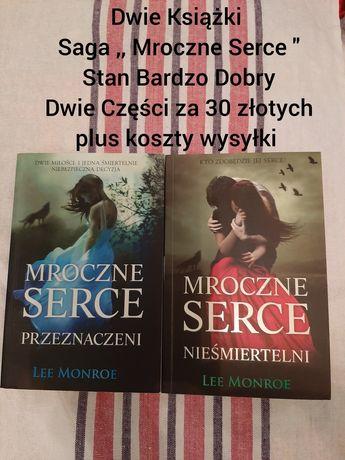 """Dwie Książki ,,Mroczne Serce"""" w Stanie Bardzo Dobrym za 30 złotych"""