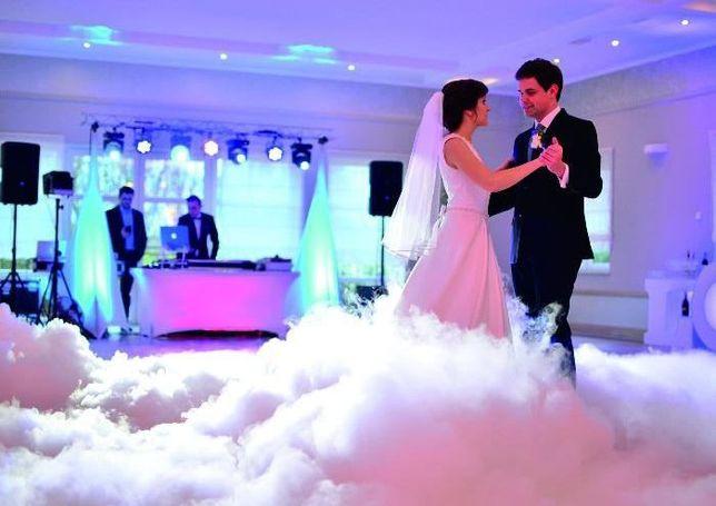 Taniec w chmurach, pierwszy taniec w dymie,ciężki dym,atrakcje weselne