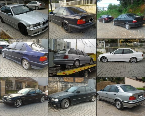 Renault 5 , Peugeot 405, Fiat 128, BMW e36