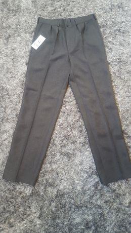 Spodnie garniturowe szare