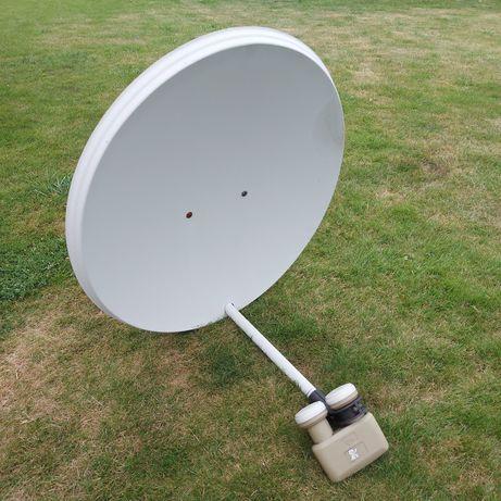 Talerz satelitarny, satelita, antena, czasza 60cm. + konwerter, oczko