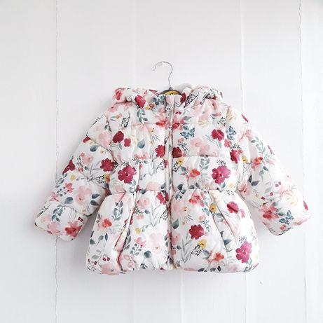 Белая куртка для девочки 9-12 месяцев. Primark 74-80 см