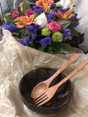 Органическая натуральная посуда и  косметика на кокосовой основе