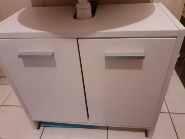 Sprzedam białą szafkę pod umywalkę
