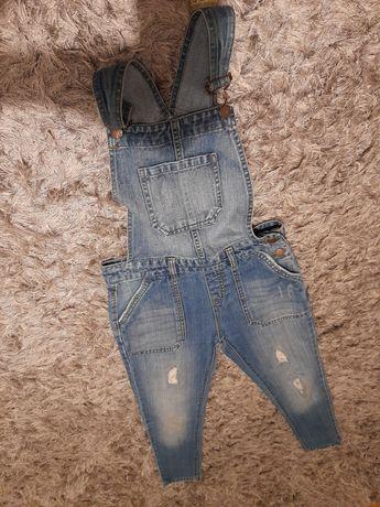 Spodnie rurki ciążowe ogrodniczki XS 34