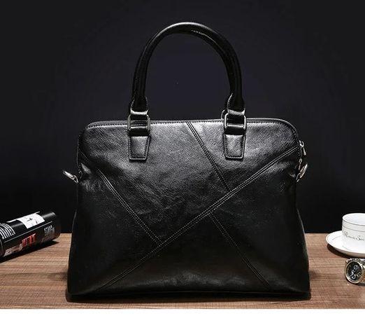 Деловой качественный стильный портфель для документов сумка-портфель