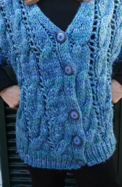 Colete em lã confeccionado a mão muito quente