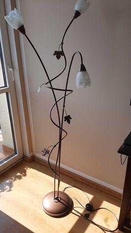 lampa stojąca listki