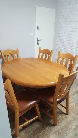Sprzedam duży stół dębowy i 6 krzeseł