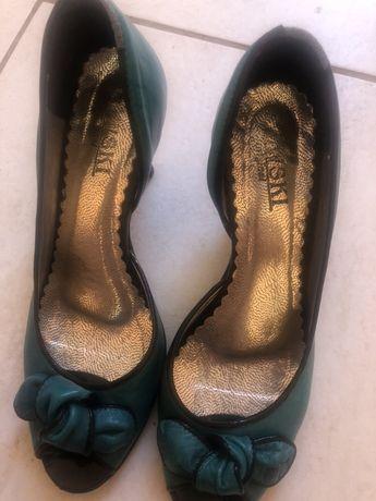 Туфли голубые 37
