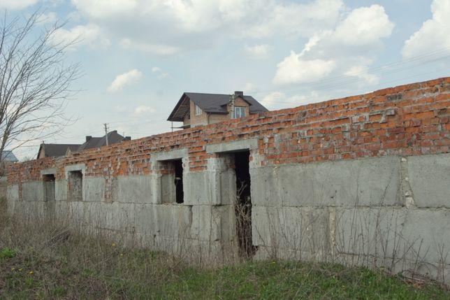 Продається незавершене будівництво дім, дом с землей, строительство