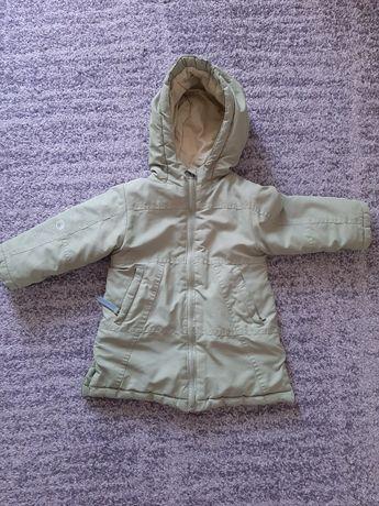 Coccodrillo kurtka zimowa rozpinana z kapturem zielona dziecięca r 80