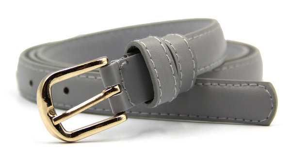 Кожаный ремешок серый