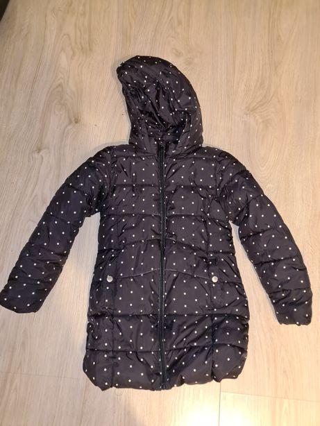 Płaszcz zimowy Mango Kids 134 czarny w kropki