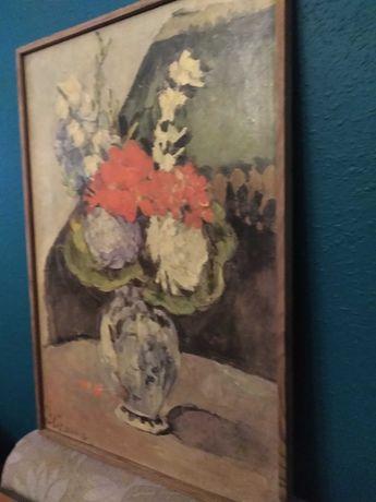 Obraz ,,Kwiaty w wazonie''Paual Cezanne.