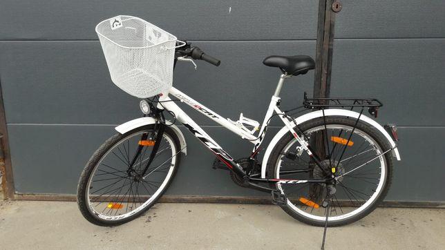 Damski rower, niemieckiej firmy KCP z koszykiem, nieużywany