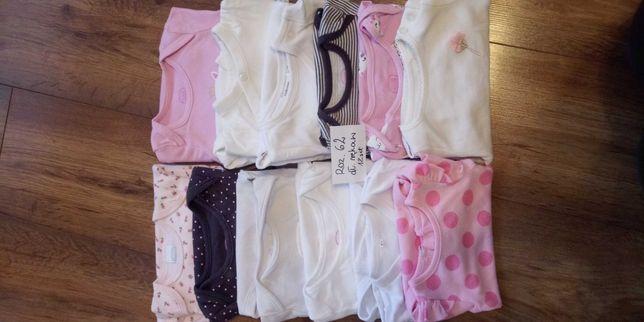 Ubranka dla dziewczynki 56 i 62 plus wanienka plus gratisy