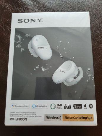 Беспроводные Bluetooth наушники Sony WF-SP800N белые