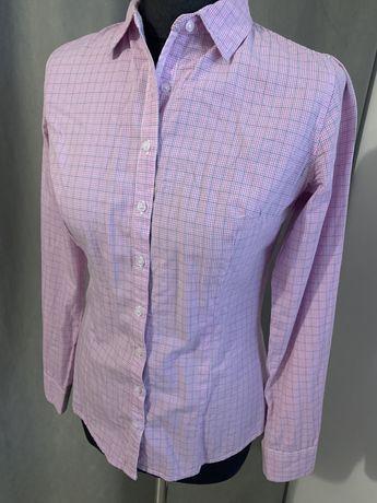 Koszula różowa mała krata XS