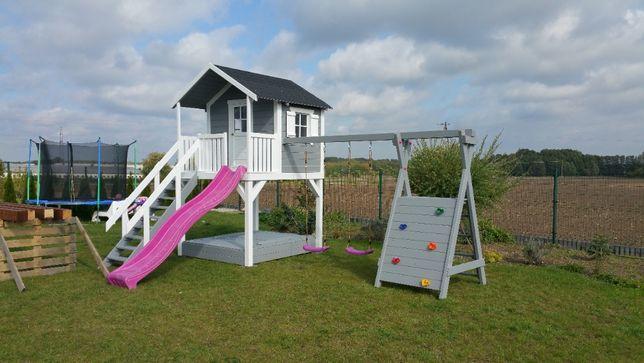 domek dla dzieci , domek drewniany , plac zabaw