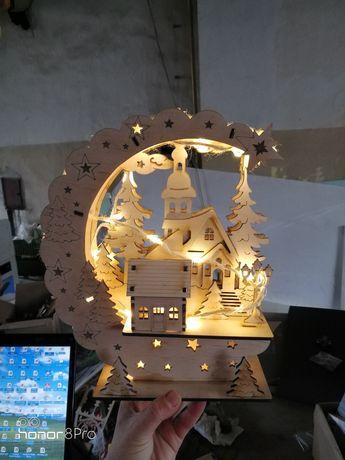 Lampka świąteczna handmade