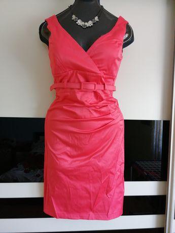 Piękna sukienka damska malinowa r 38 M