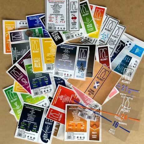 Etykiety piwne dla kolekcjonerów - zestaw ok. 30 szt.