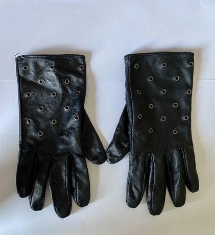 Nowe damskie rękawiczki ocieplane nity