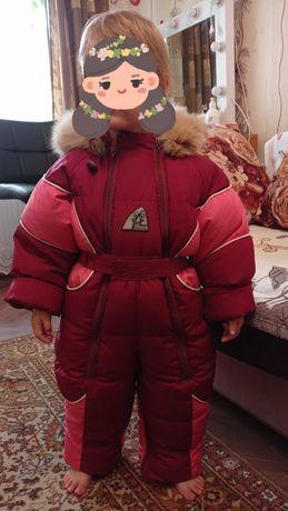 Зимний комбинезон пуховик детский