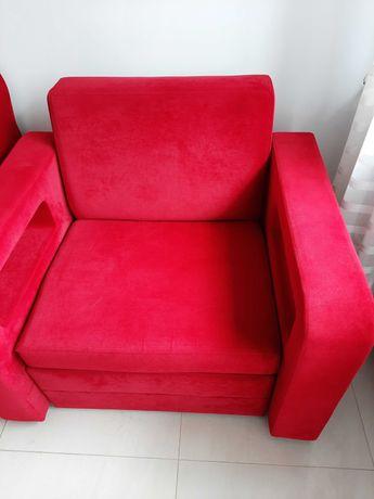 Fotel rozkładany w idealnym stanie