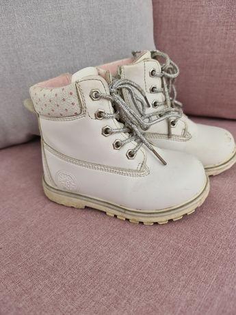 Зимние ботинки для девочки 24р белые