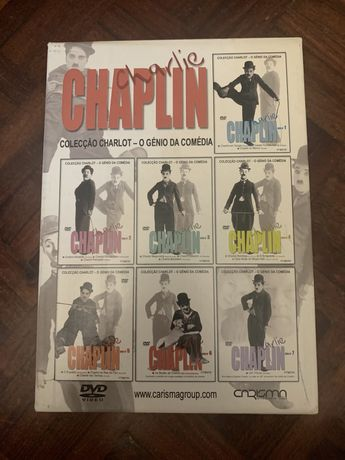 "Conjunto 7 DVDs ""Charlie Chaplin - Coleção Charlot"""