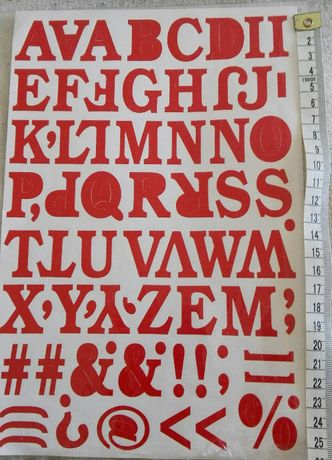 samoprzylepne litery literki