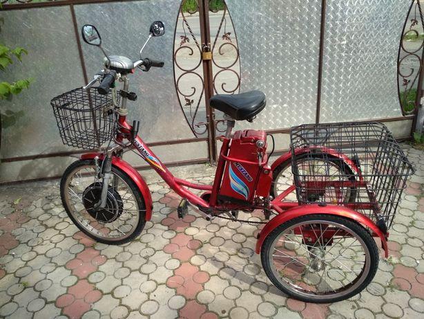 Продам трьохколісний електро велосипед Mustang