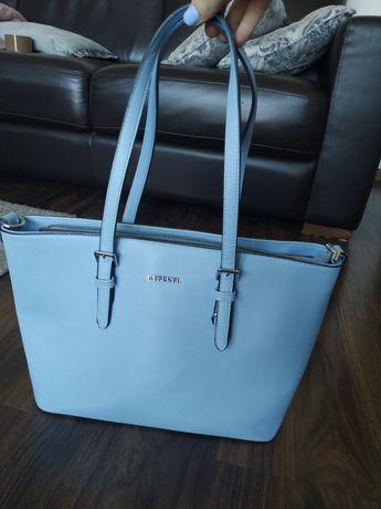 Torba torebka kuferek niebieska błękitna