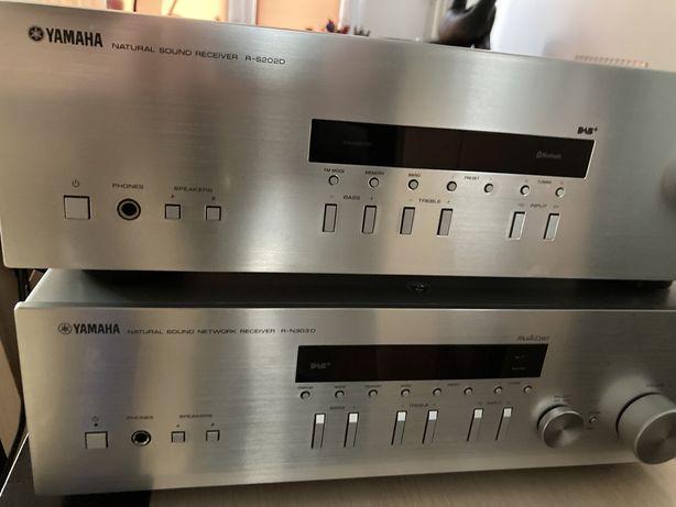 Amplituner Yamaha R-S202D srebrny HI-FI DAB+ Bluetooth Gwarancja Igła