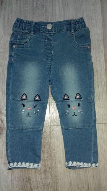 NOWE jeansy dziewczęce