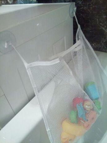 Сетка корзина для игрушек в ванной органайзер для ванны