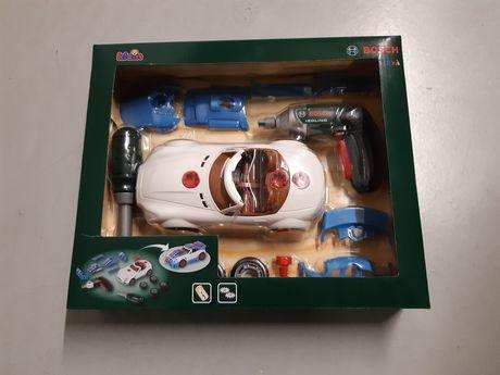 Zestaw Bosch auto tuning 3 w 1 samochód dla dzieci z wkrętarka Klein