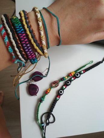 Bransoletki biżuteria rzemyki